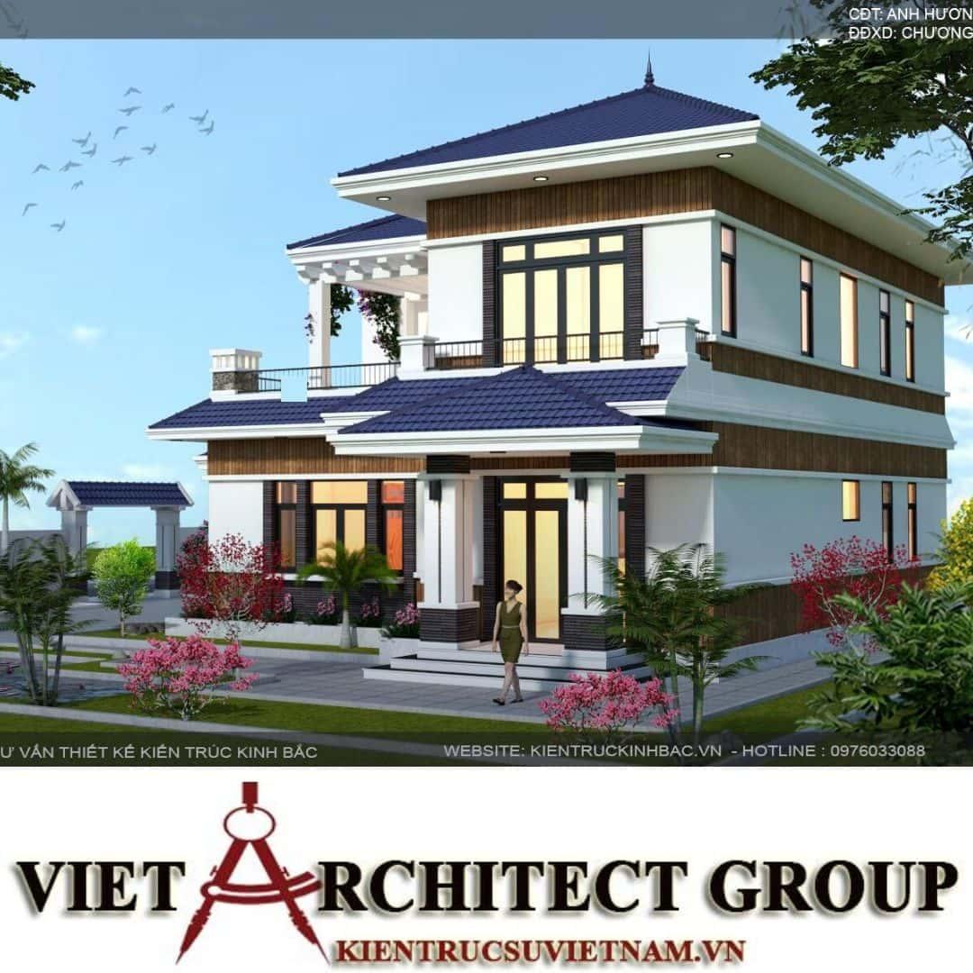 1 47 - Công trình biệt thự 2 tầng mái thái a Hương - Chương Mỹ, Hà Nội