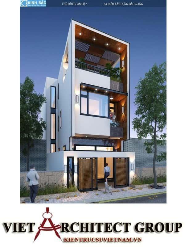 1 48 - Công trình nhà phố 3 tầng kiến trúc hiện đại anh Tập - Bắc Giang