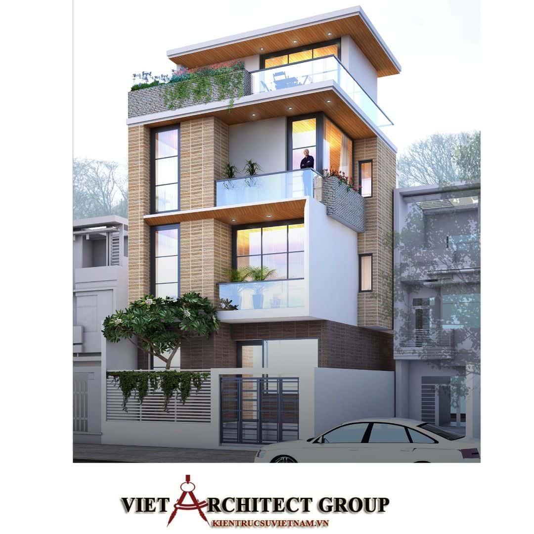 1 55 - Công trình thiết kế thi công nhà phố 3.5 tầng 65m2 Ms Lan Quận 9
