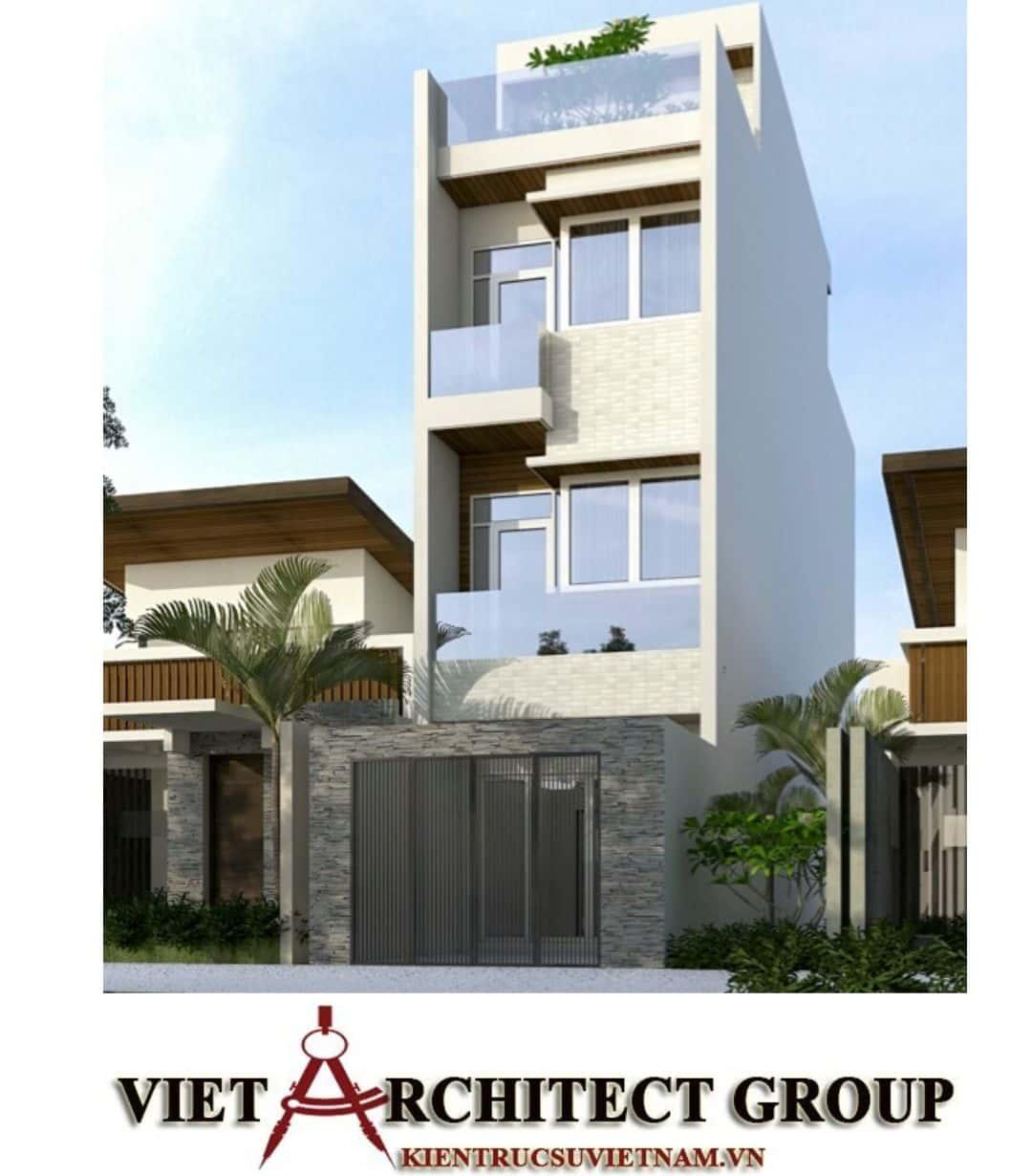 1 58 - Công trình nhà ở 4 tầng mặt tiền 4.5m anh Tuấn - TPHCM