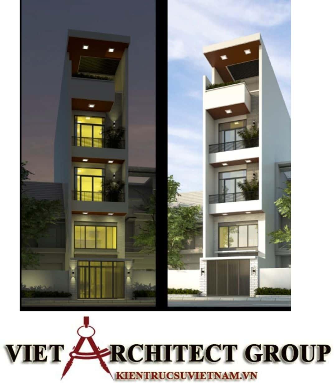 1 59 - Công trình nhà ở 5 tầng mặt tiền 4m chị Trâm - TPHCM