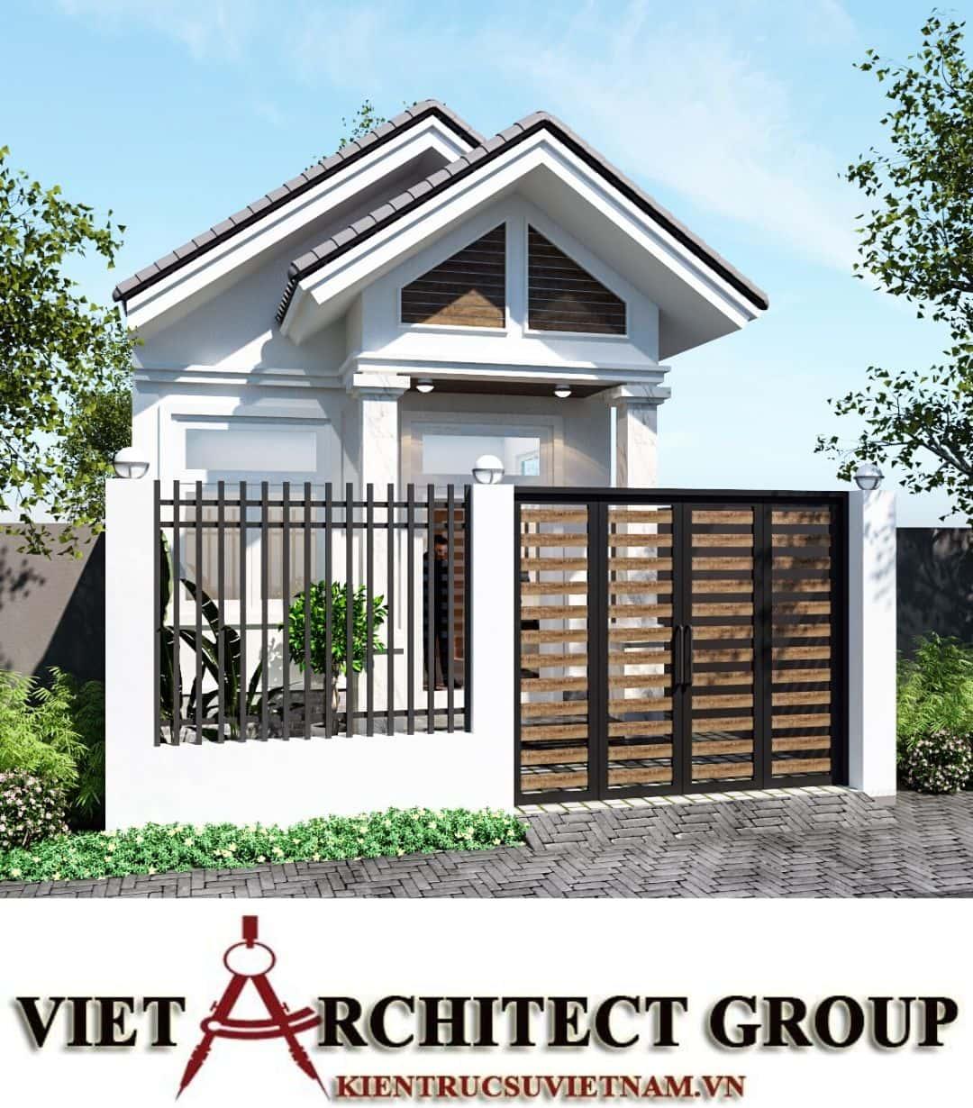 1 60 - Công trình nhà ở trệt mái thái diện tích 120m2 Mr Thi - Thủ Đức, TPHCM
