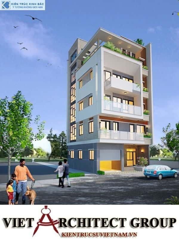 1 7 - Công trình nhà 5 tầng lô góc 2 mặt tiền anh Vũ ở Việt Trì, Phú Thọ.