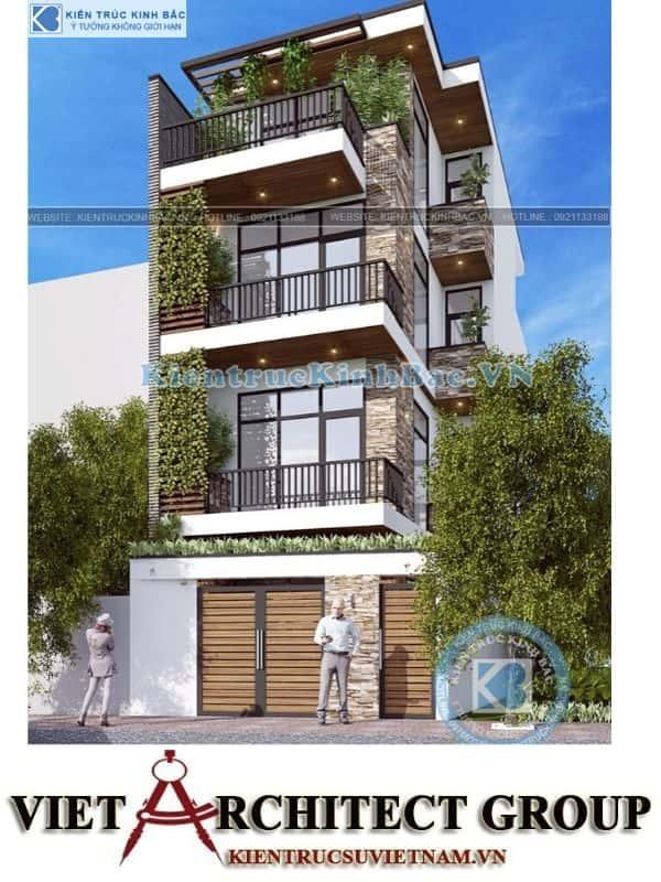 1 9 - Công trình nhà phố hiện đại 4 tầng mặt tiền 5m a Huyên - Hà Nội