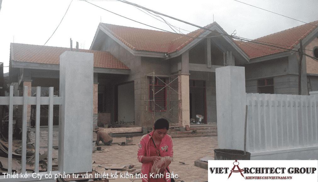 1 - Công trình thiết kế biệt thự 1 tầng mái thái a Tuấn - Lai Châu