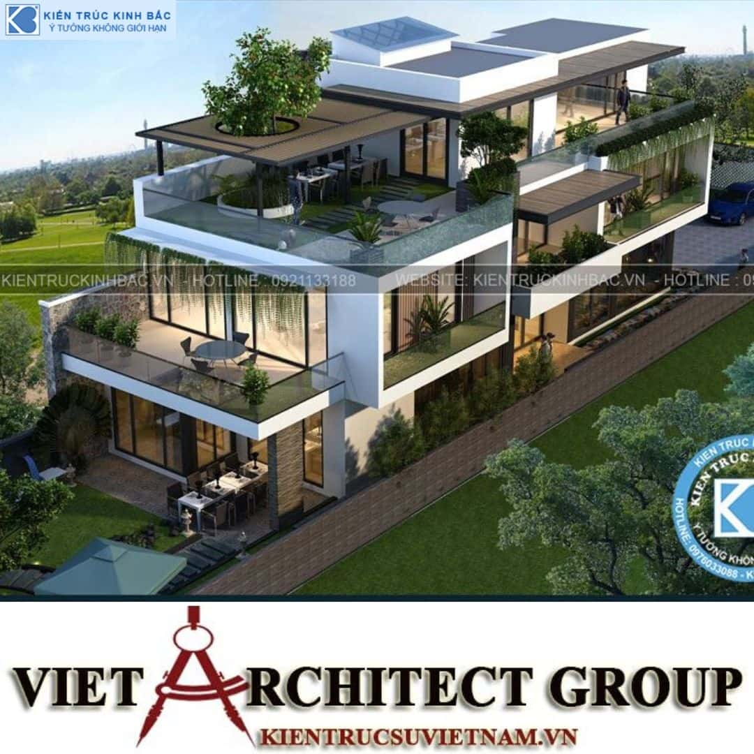 10 1 - Công trình thiết kế biệt thự 3 tầng hiện đại anh Đức - Hà Nội