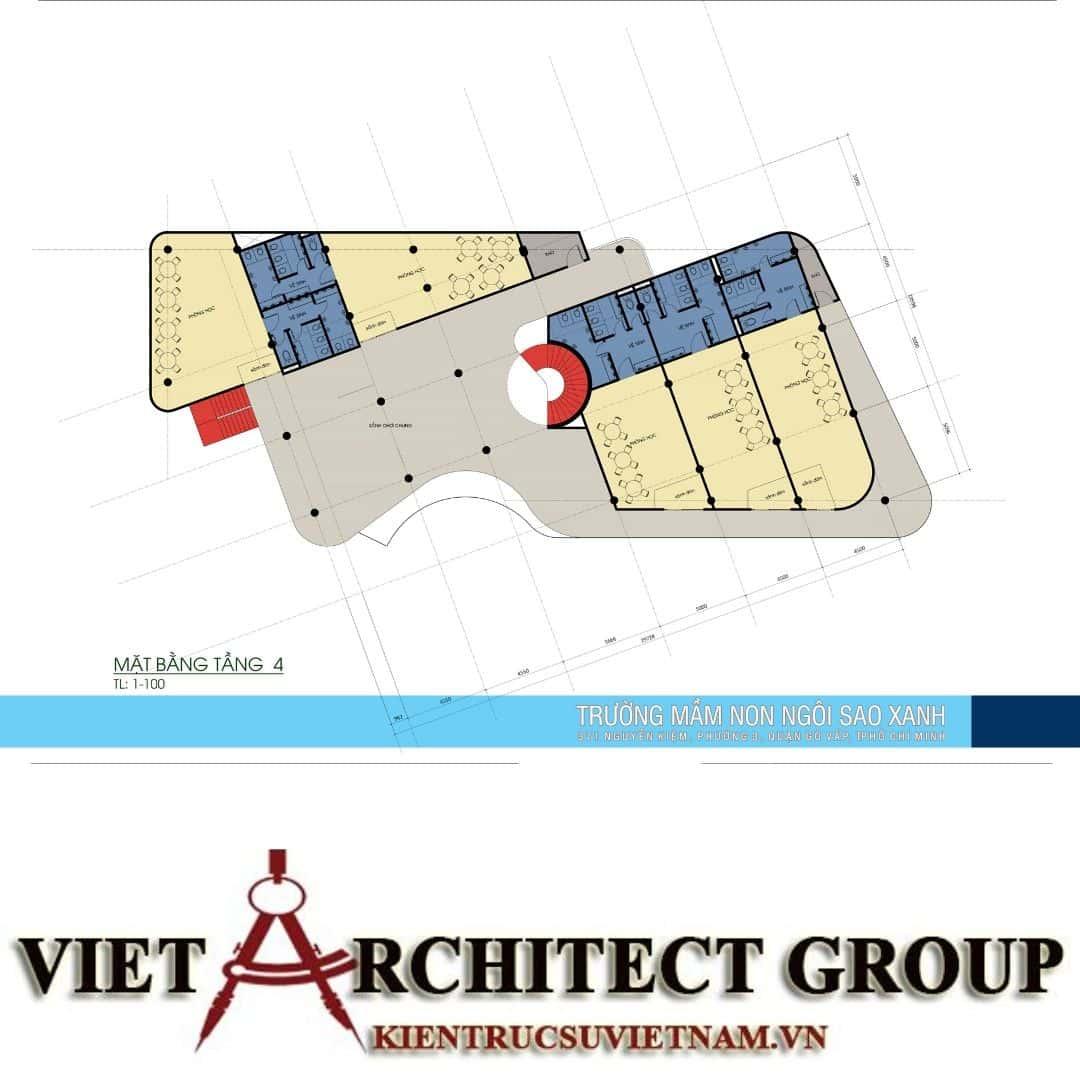 10 4 - Thiết kế trường mầm non quận Gò Vấp tiêu chuẩn quốc gia
