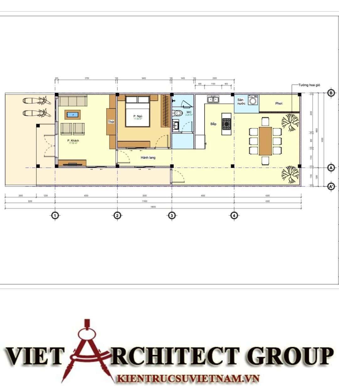 10 7 - Công trình nhà ở trệt mái thái diện tích 120m2 Mr Thi - Thủ Đức, TPHCM