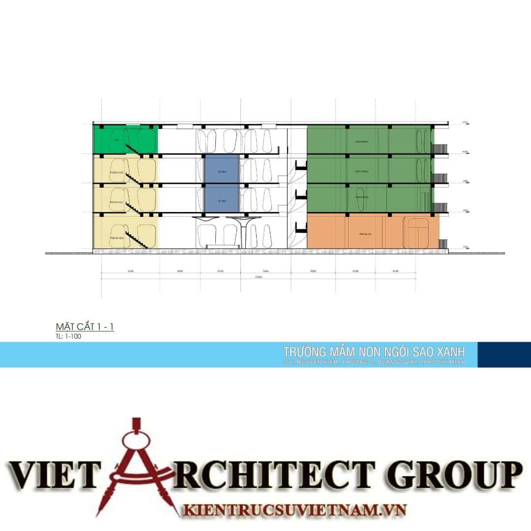 11 2 - Thiết kế trường mầm non quận Gò Vấp tiêu chuẩn quốc gia