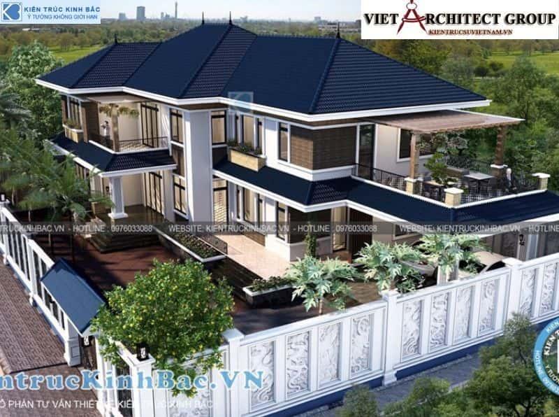 11 - Công trình thiết kế biệt thự 2 tầng mái thái anh Cảnh - Hoà Bình