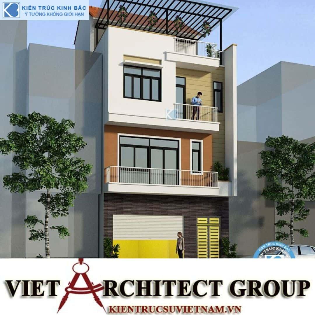 2 12 - Công trình nhà phố 4 tầng mặt tiền 7.5m anh Thắng - Hà Nội