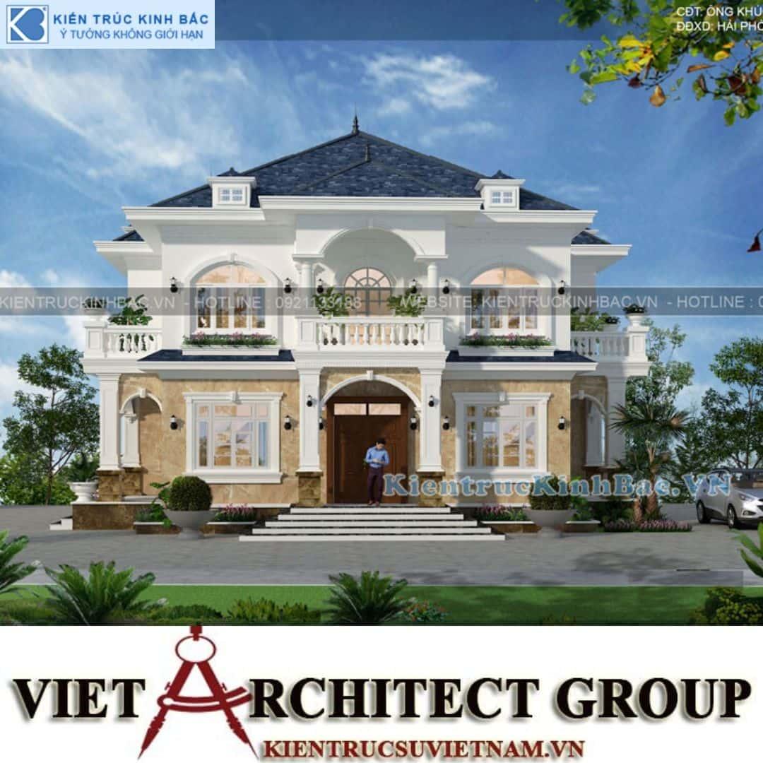 2 17 - Thiết kế biệt thự 2 tầng mái thái đẹp và chuyên nghiệp