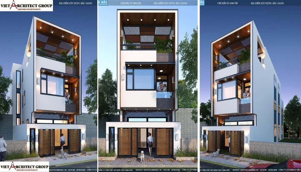 2 2 3 - Công trình nhà phố 3 tầng kiến trúc hiện đại anh Tập - Bắc Giang