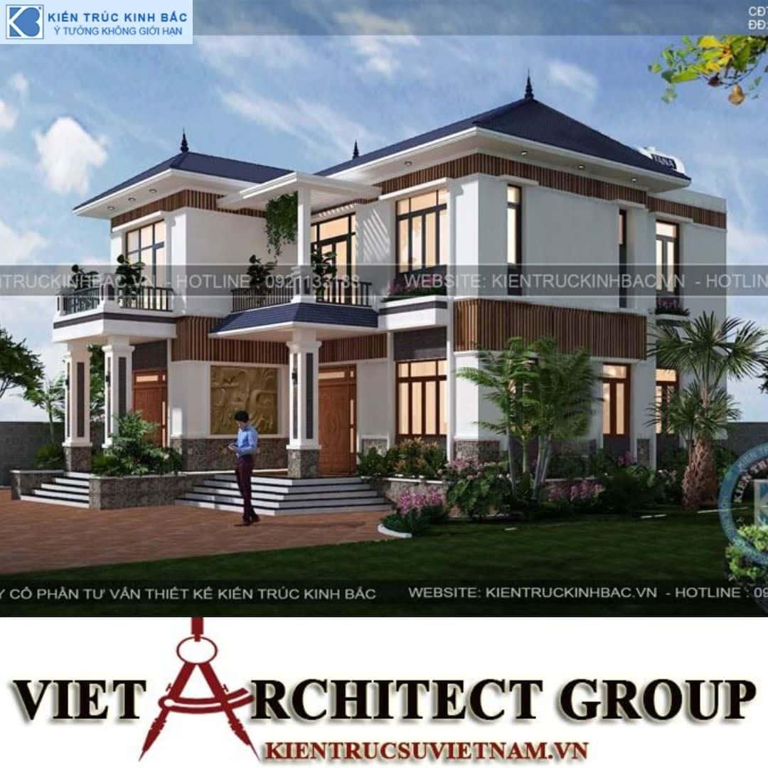 2 23 - Công trình Thiết kế biệt thự 2 tầng mái thái anh Vinh - Hải Dương