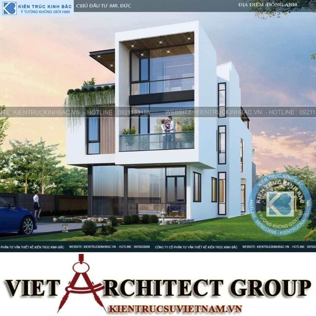 2 25 - Công trình thiết kế biệt thự 3 tầng hiện đại anh Đức - Hà Nội