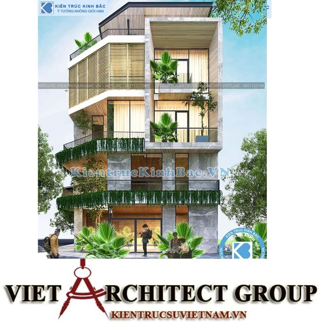 2 27 - Công trình Thiết kế biệt thự lô góc 5 tầng chị Yên tại Hưng Yên