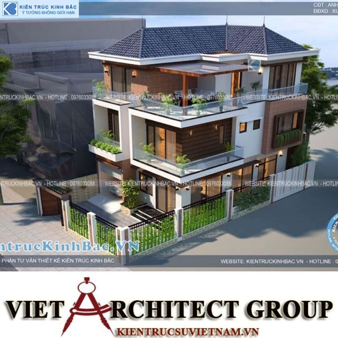 2 31 - Công trình thiết kế biệt thự 3 tầng hiện đại anh Tá - Hà Nội