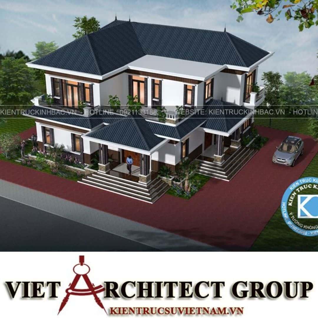 2 32 - Công trình thiết kế biệt thự 2 tầng hiện đại anh Chinh - Bắc Giang