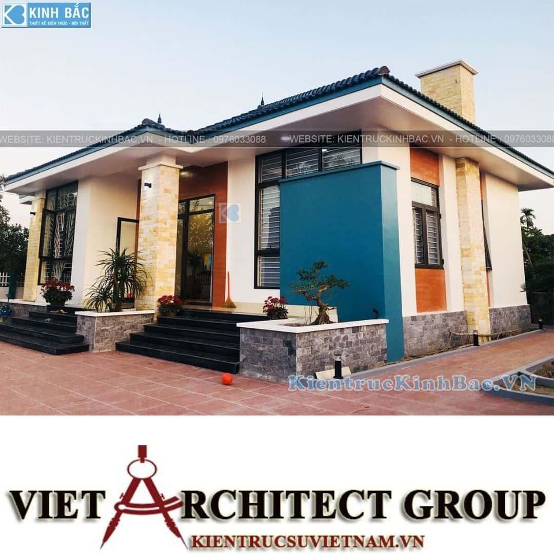 2 34 - Công trình thiết kế biệt thự 1 tầng tại anh Minh - Thái Bình