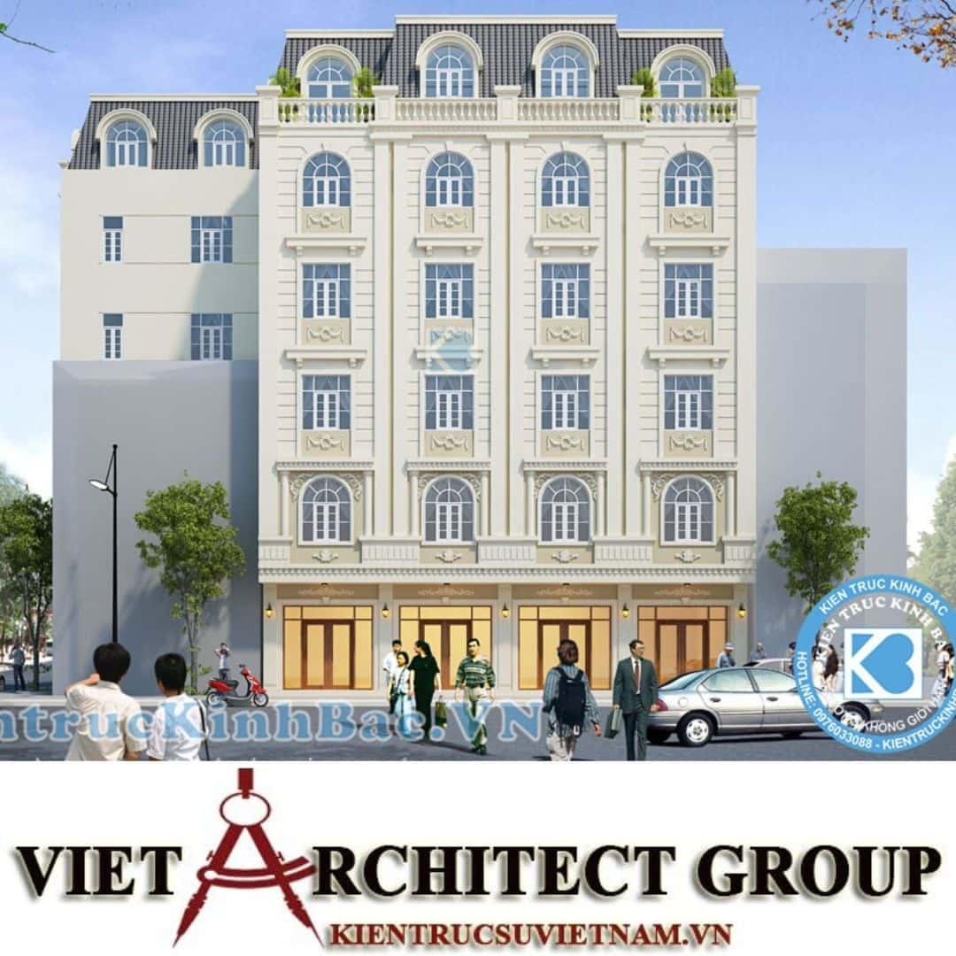 2 35 - Công trình thiết kế khách sạn tân cổ điển chị Nguyệt - Bắc Ninh