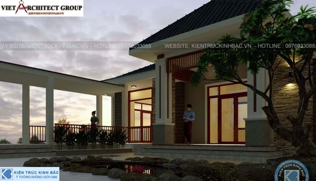 2 39 - Công trình thiết kế biệt thự 1 tầng anh Thịnh - Thái Nguyên