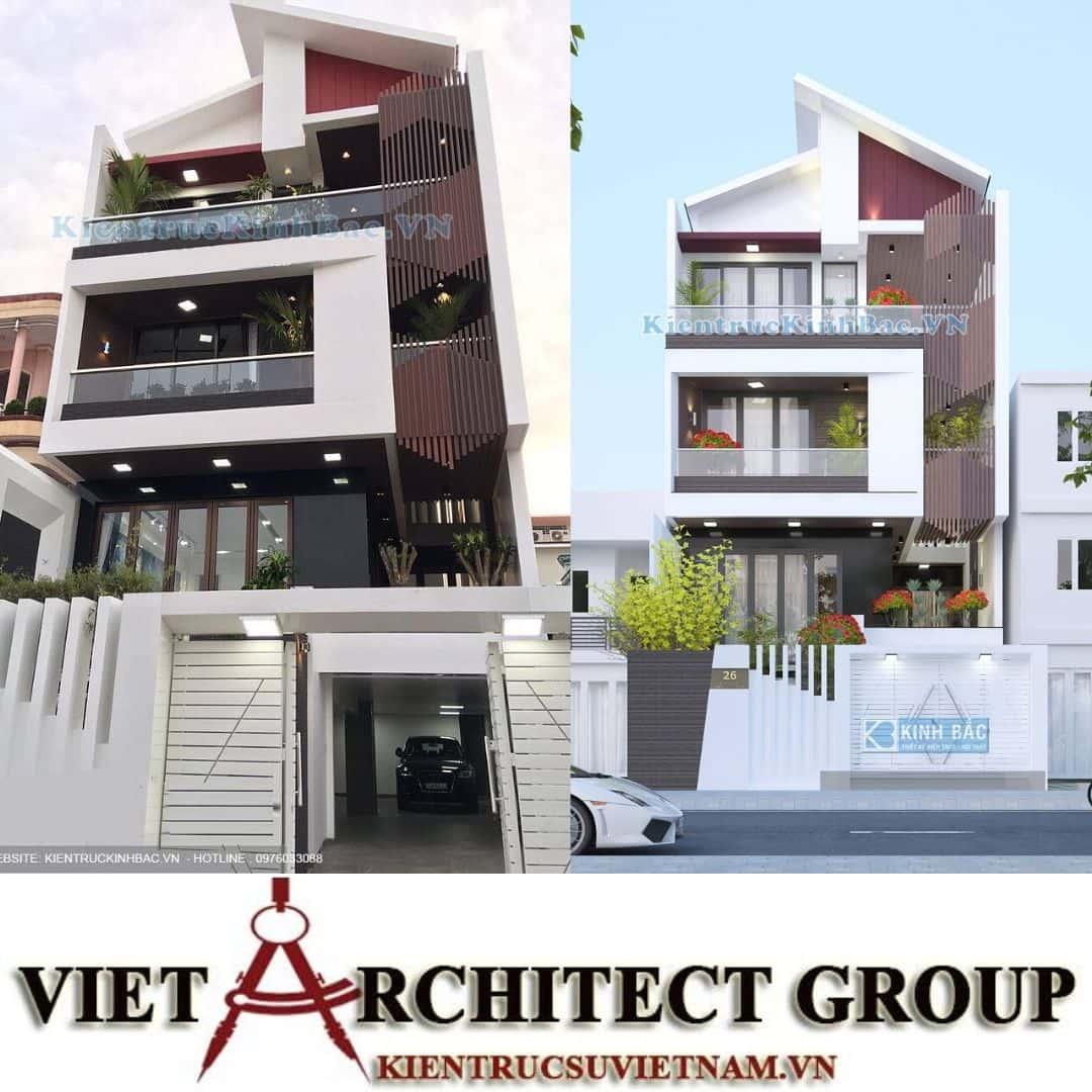 2 42 - Công trình thiết kế nhà phố mặt tiền 7.5m anh Tiến - Hải Phòng