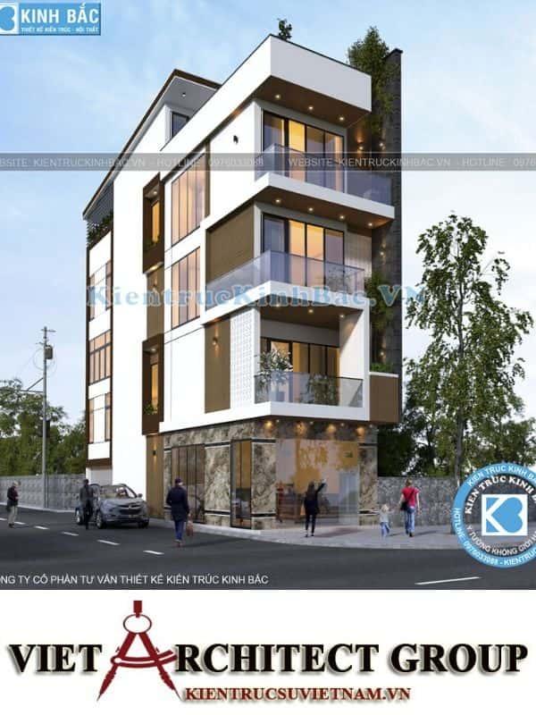 2 48 - Công trình nhà phố 5 tầng 2 mặt tiền anh Thành - Bắc Giang