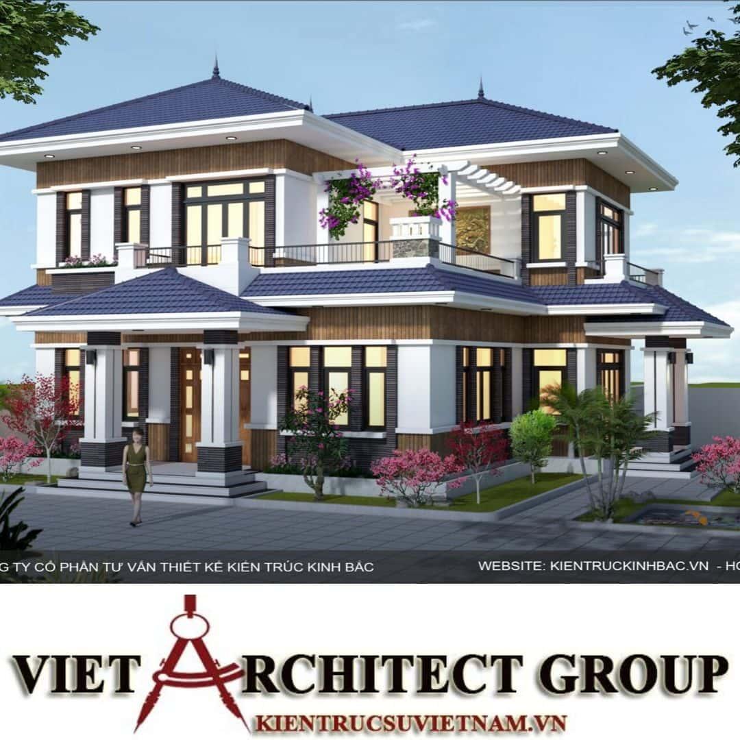 2 49 - Công trình biệt thự 2 tầng mái thái a Hương - Chương Mỹ, Hà Nội