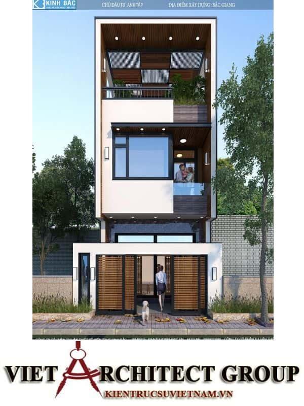 2 50 - Công trình nhà phố 3 tầng kiến trúc hiện đại anh Tập - Bắc Giang