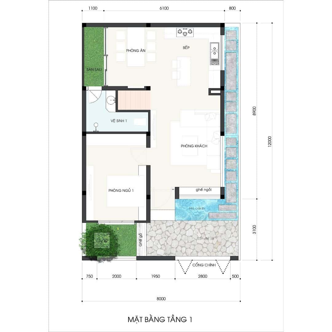 2 57 - Công trình thiết kế thi công nhà phố 3.5 tầng 65m2 Ms Lan Quận 9