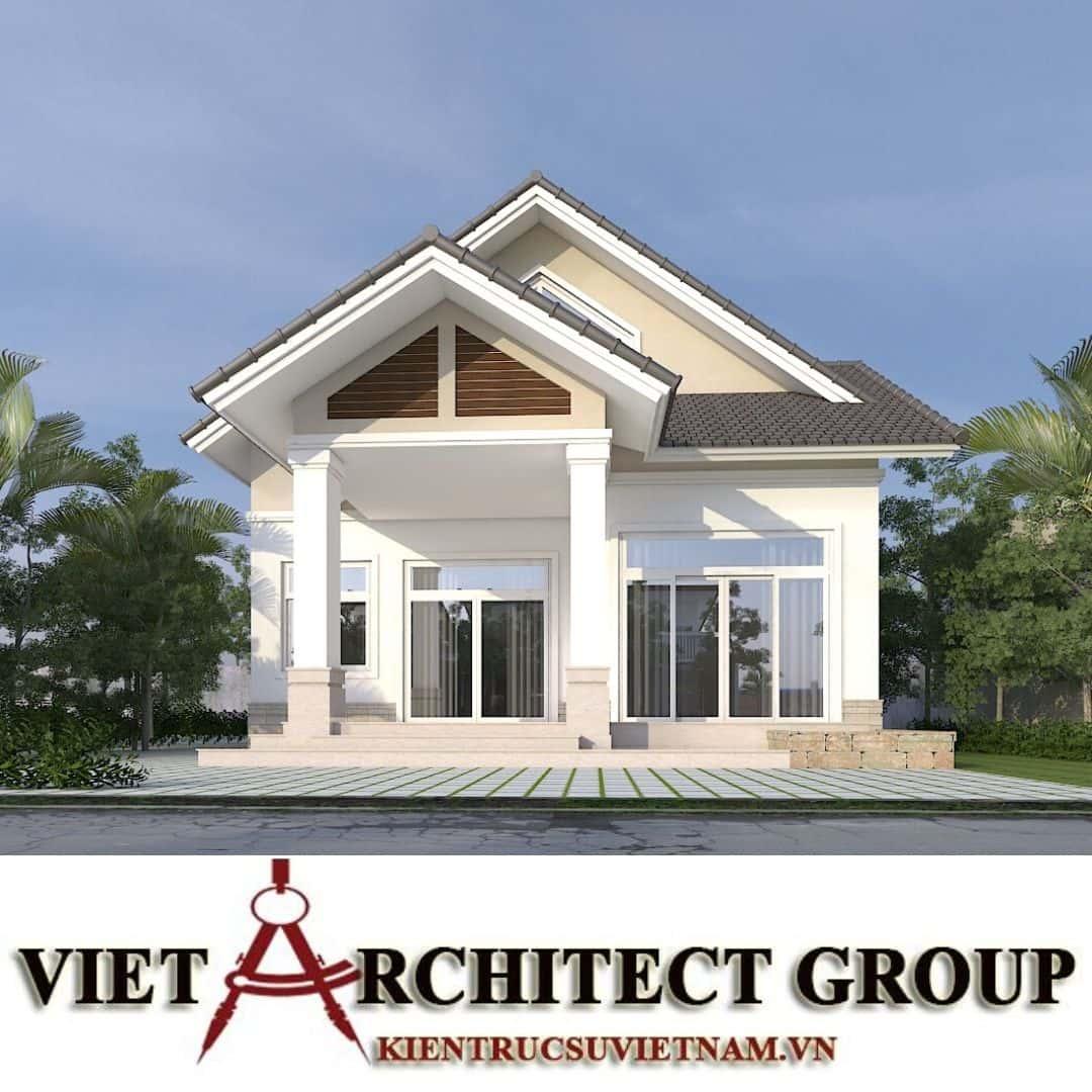 2 58 - Công trình nhà ở 1 tầng mái thái 3 phòng ngủ chị Dung - Nhơn Trạch, Đồng Nai