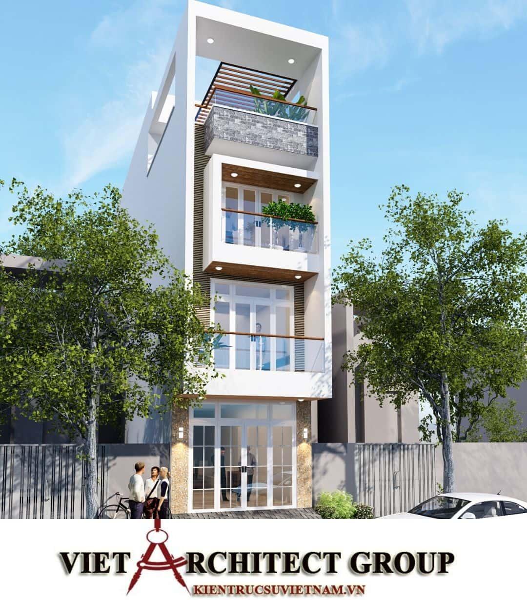 2 59 - Công trình nhà phố mặt tiền 4m 1 trệt 2 lầu sân thượng chị Hải - Thủ Đức