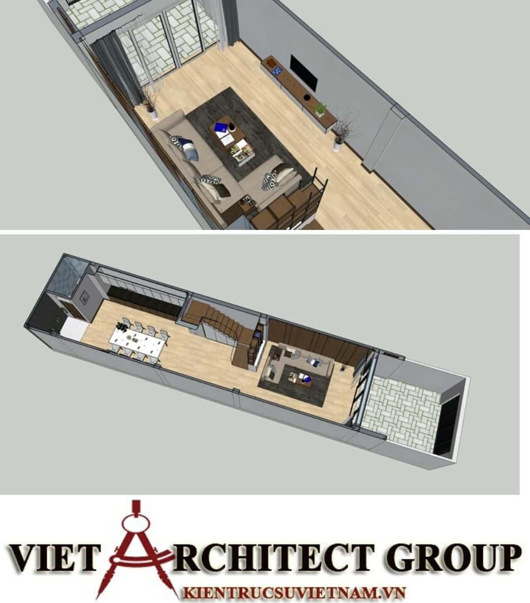 2 60 - Công trình nhà ở 4 tầng mặt tiền 4.5m anh Tuấn - TPHCM