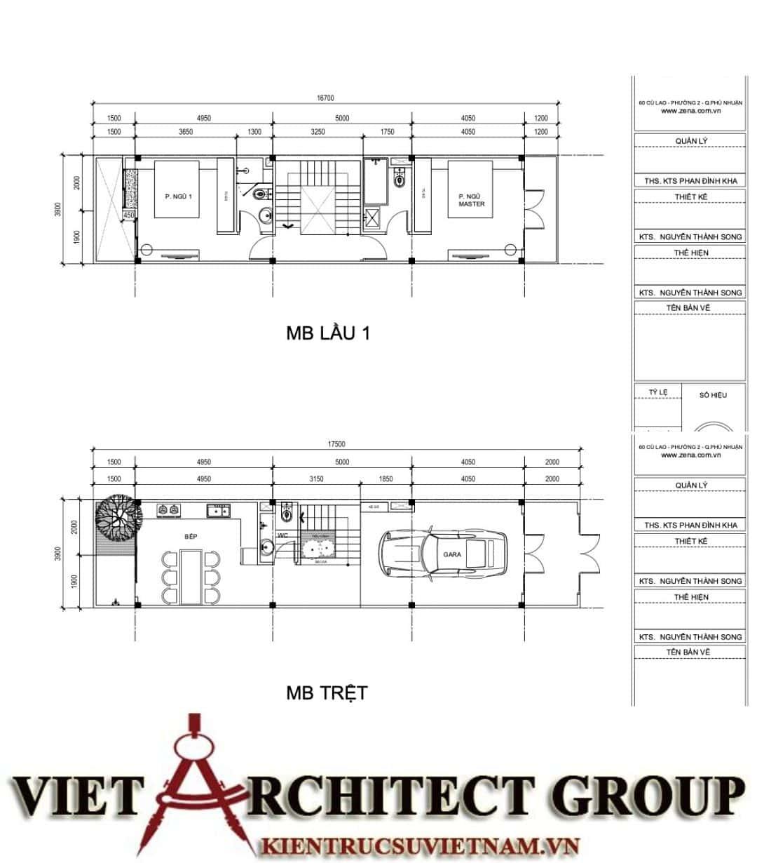 2 61 - Công trình nhà ở 5 tầng mặt tiền 4m chị Trâm - TPHCM