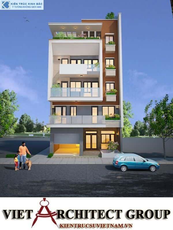2 7 - Công trình nhà 5 tầng lô góc 2 mặt tiền anh Vũ ở Việt Trì, Phú Thọ.
