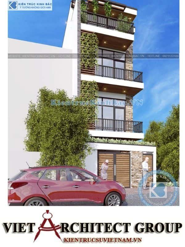 2 9 - Công trình nhà phố hiện đại 4 tầng mặt tiền 5m a Huyên - Hà Nội