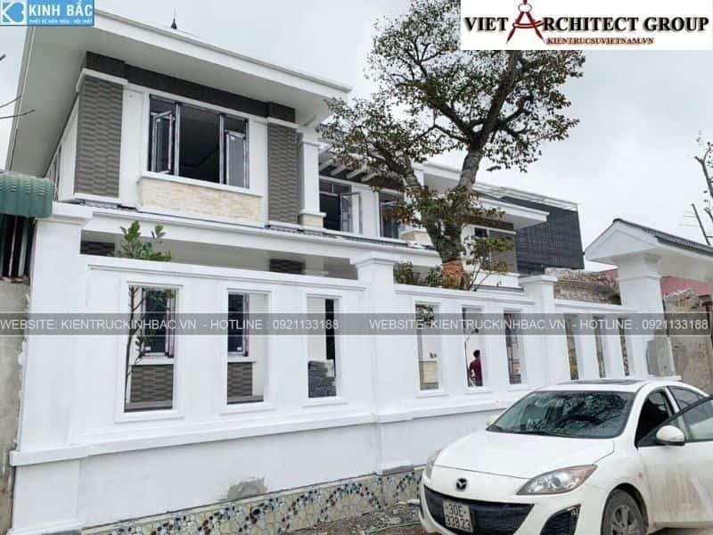 3 20 - Công trình thiết kế biệt thự 2 tầng mái thái anh Cảnh - Hoà Bình