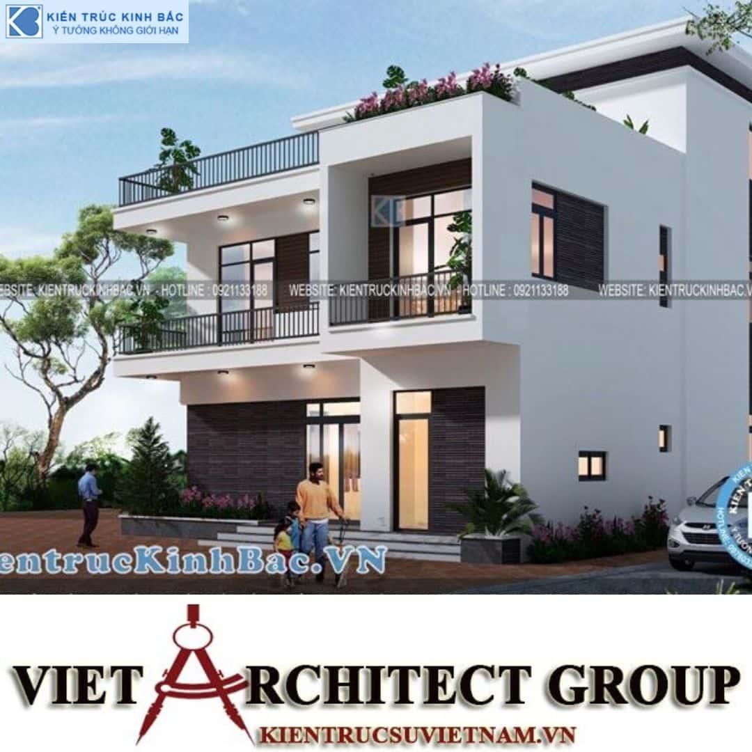 3 23 - Công trình Thiết kế biệt thự 3 tầng hiện đại anh Sơn - Bắc Giang