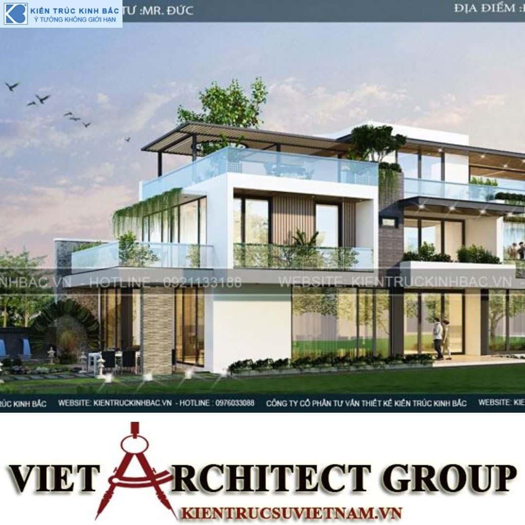 3 24 - Công trình thiết kế biệt thự 3 tầng hiện đại anh Đức - Hà Nội