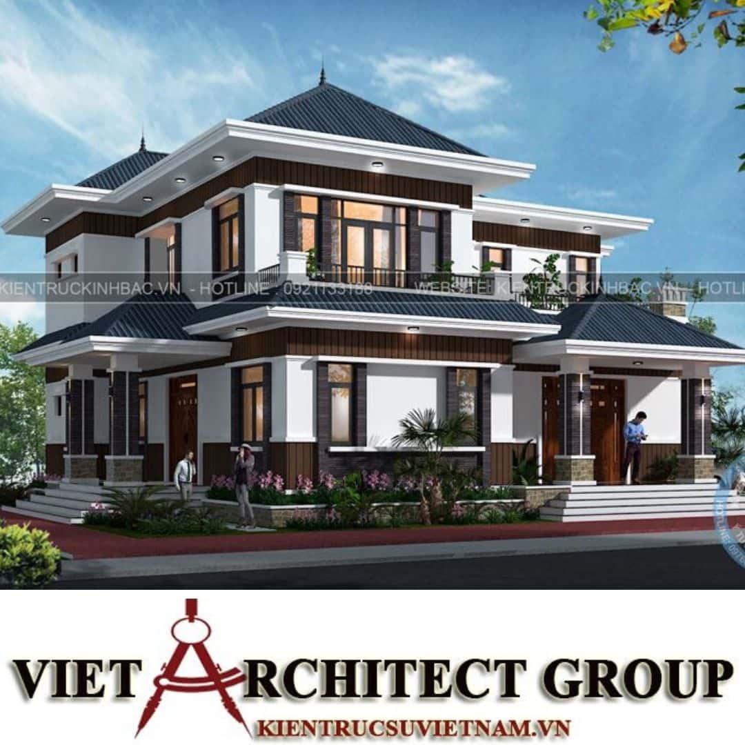3 31 - Công trình thiết kế biệt thự 2 tầng hiện đại anh Chinh - Bắc Giang