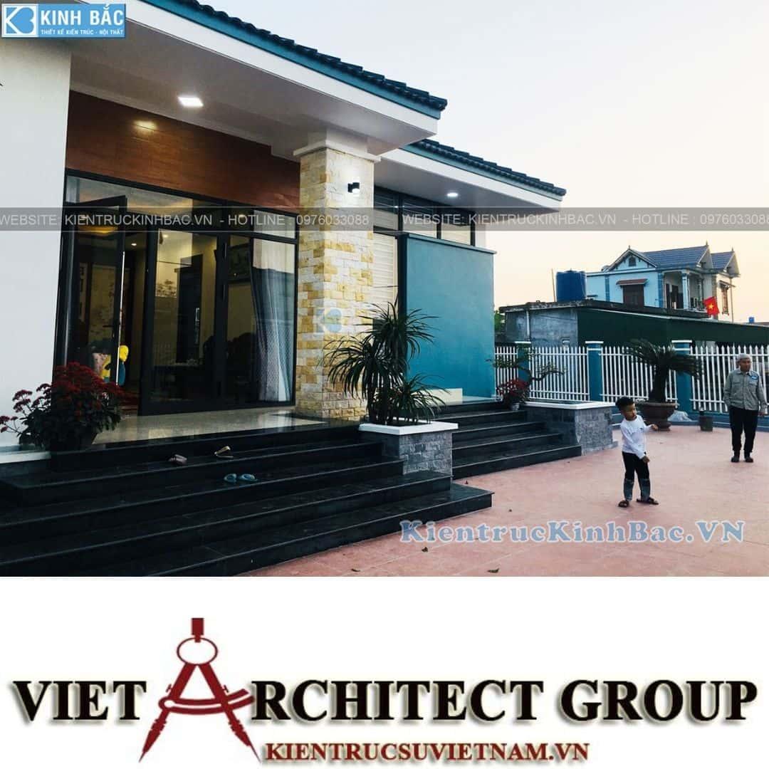 3 33 - Công trình thiết kế biệt thự 1 tầng tại anh Minh - Thái Bình