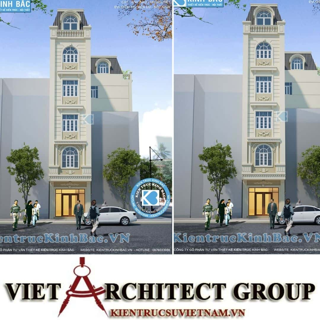 3 34 - Công trình thiết kế khách sạn tân cổ điển chị Nguyệt - Bắc Ninh