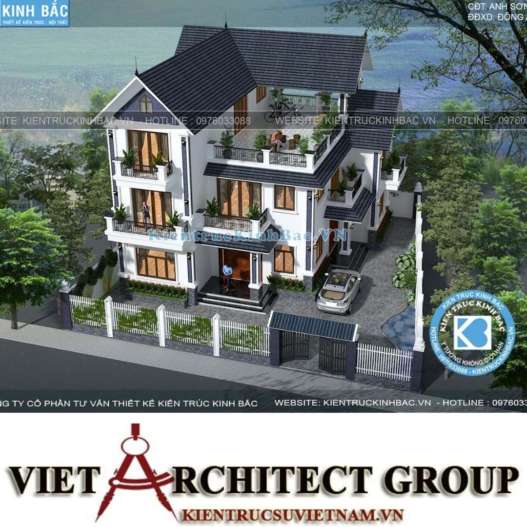 3 36 - Công trình thiết kế biệt thự tân cổ điển 3 tầng anh Sơn - Hà Nội