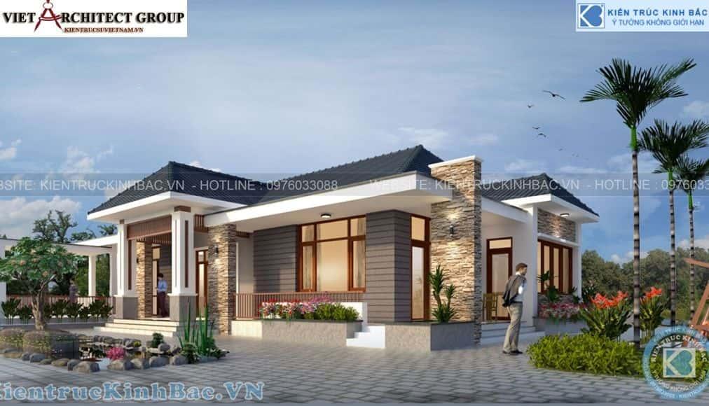 3 37 - Công trình thiết kế biệt thự 1 tầng anh Thịnh - Thái Nguyên