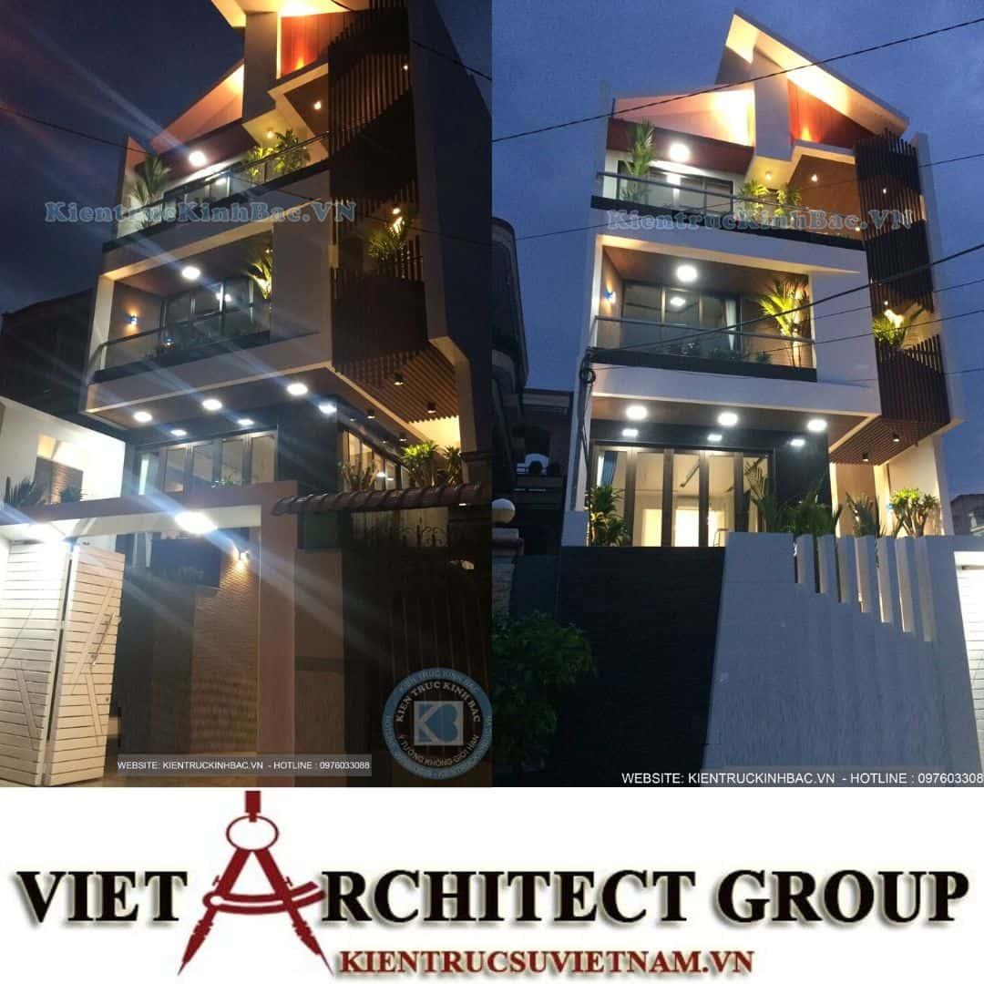 3 40 - Công trình thiết kế nhà phố mặt tiền 7.5m anh Tiến - Hải Phòng