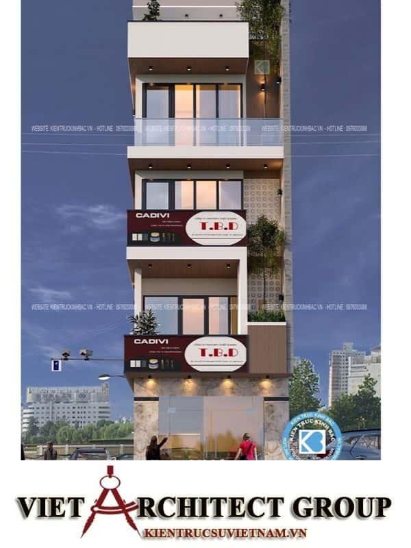 3 44 - Công trình nhà phố 5 tầng 2 mặt tiền anh Thành - Bắc Giang