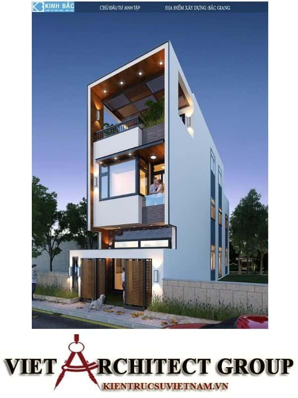 3 46 - Công trình nhà phố 3 tầng kiến trúc hiện đại anh Tập - Bắc Giang