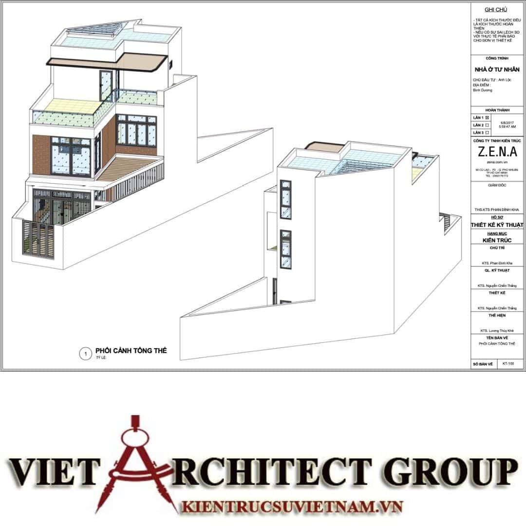 3 52 - Nhà ở hiện đại 150m2 anh Lộc, Bình Dương