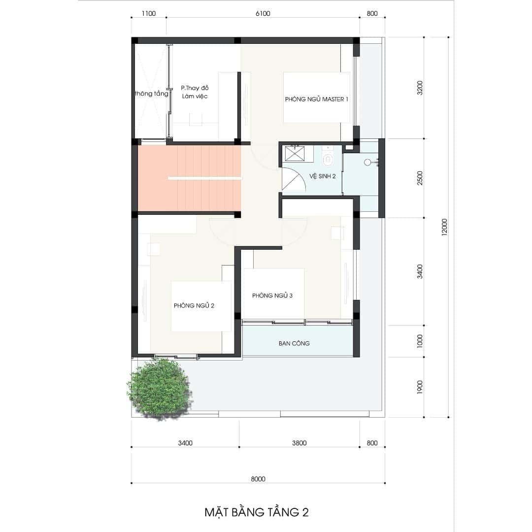 3 53 - Công trình thiết kế thi công nhà phố 3.5 tầng 65m2 Ms Lan Quận 9
