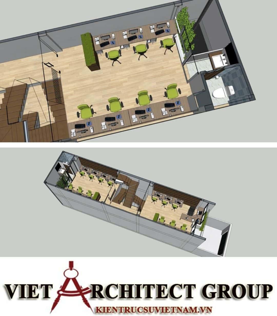 3 56 - Công trình nhà ở 4 tầng mặt tiền 4.5m anh Tuấn - TPHCM